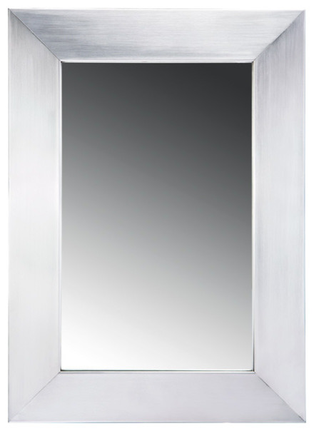 Whitehaus wh2215gss 15 noah stainless steel framed mirror Stainless steel framed bathroom mirrors