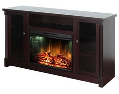 Muskoka Coventry TV Stand & Electric Fireplace eclectic media storage