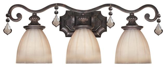 World Imports 1683-89 Avila Bronze 3 Light Vanity traditional-bathroom-vanity-lighting