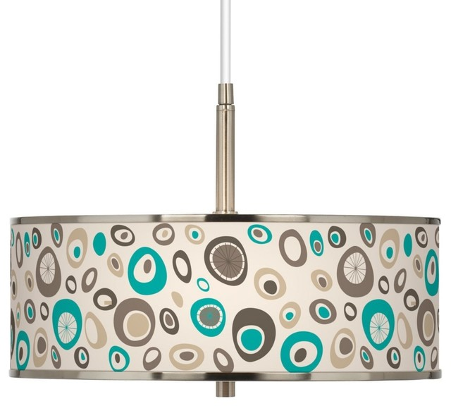 """Stammer Giclee Glow 16"""" Wide Pendant Light contemporary-chandeliers"""