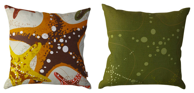 Starfish Vintage Pillow - Multi tropical-decorative-pillows
