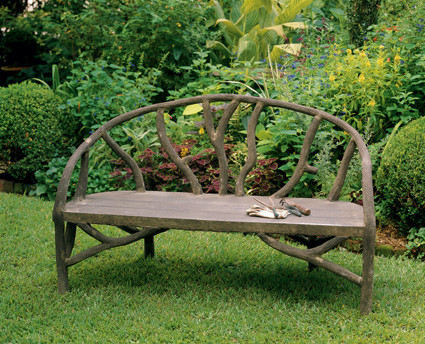 Faux Bois Arbor Bench traditional outdoor stools and benches