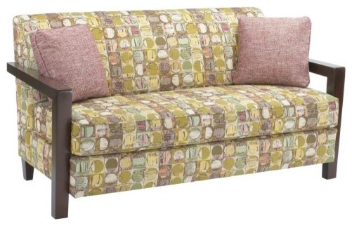 Stanton Cooper Natalie Structure Confetti Fabric Sofa with Throw Pillows contemporary sofas