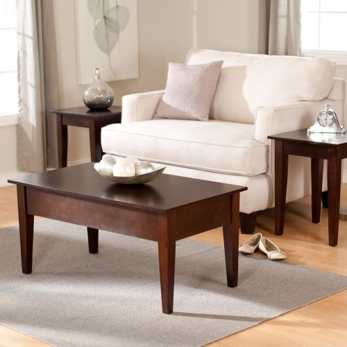 Finley Home Turner Lift-Top Occasional Table Collection - Espresso contemporary-coffee-tables