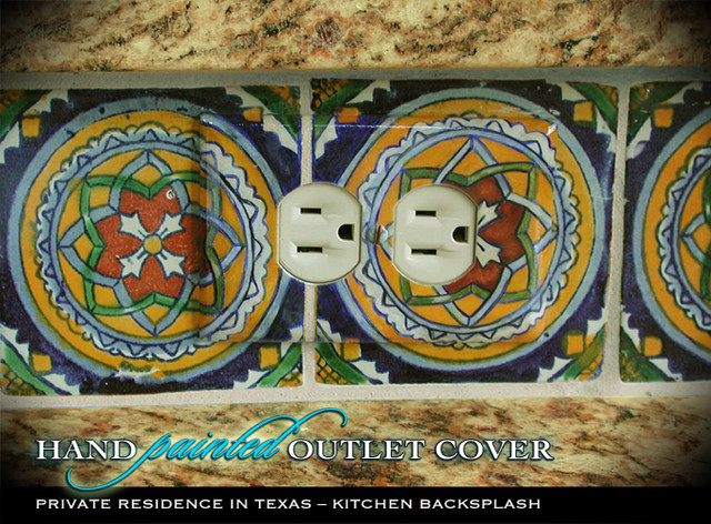 Kitchen Backsplash Custom Outlet Cover - accessories and decor