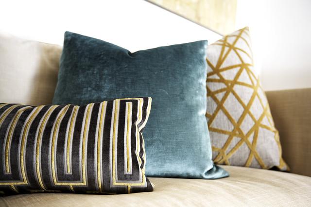 Mid-Century Modern Custom Pillows midcentury-living-room