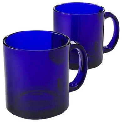 Classic Coffee Mugs, Cobalt modern glassware