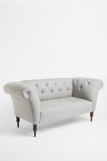 Gramercy Sofa, Pewter contemporary sofas
