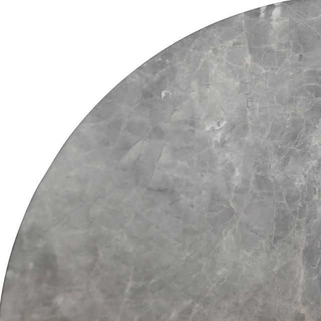 Nero Gray Marble Corner Shelf Transitional Bathroom