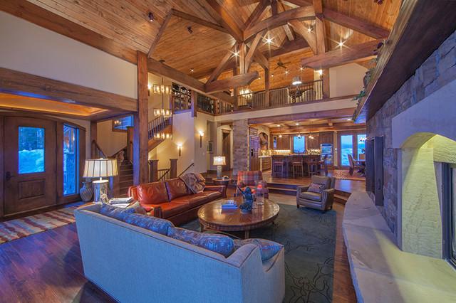 Muntean Residence traditional-living-room