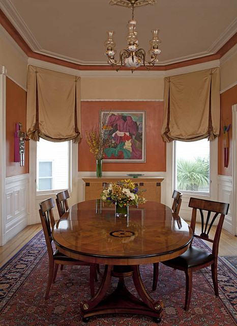Asian Style Window Treatments http://www.houzz.com/photos/550119/Victorian-style-window-treatments-in-bronze-satin-fabric-with-tassels-and-swags-traditional-curtains-san-francisco