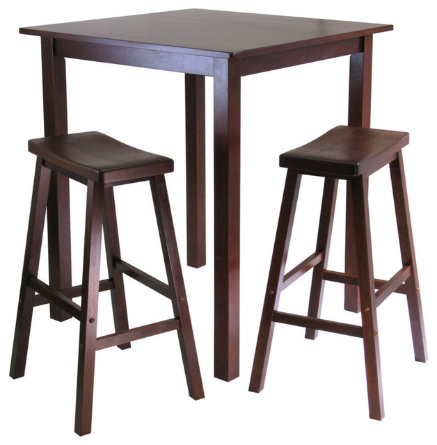 Winsome Wood Parkland 3 Piece Square High Pub Table Set W