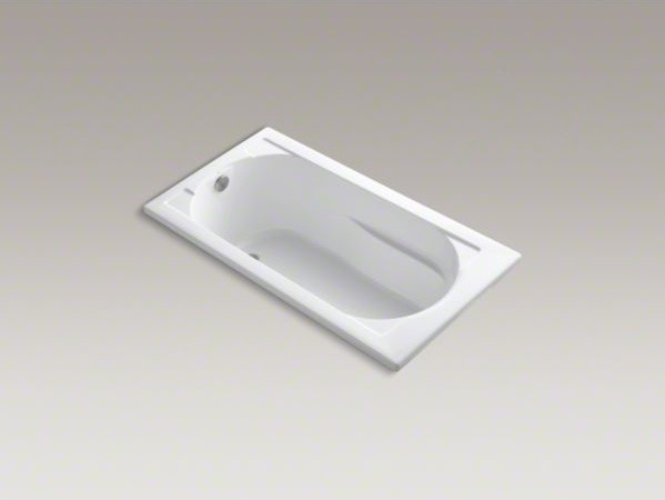 "KOHLER Devonshire(R) 60"" x 32"" drop-in bath with reversible drain contemporary-bathtubs"