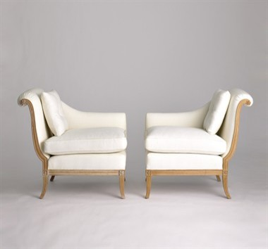 Jan Showers Danielle Tete-a-Tete traditional armchairs