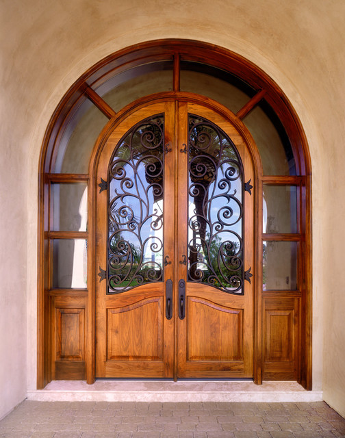 Custom 1 2 round entry door w transom for Custom transom windows