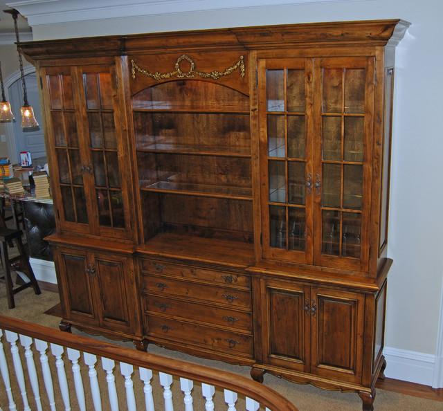 French Armoire library & photo cabinet traditional-dressers-chests-and-bedroom-armoires