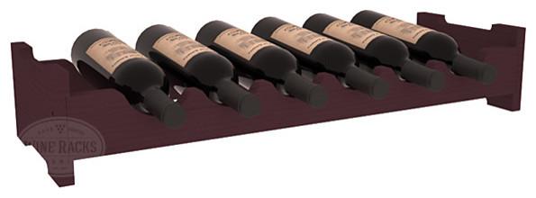 6 Bottle Mini Scalloped Wine Rack in Pine, Burgundy contemporary-wine-racks