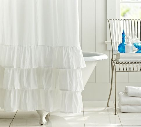 Ruffle Shower Curtain contemporary-shower-curtains