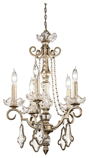Crystal Gracie Collection 5-Light Chandelier traditional-chandeliers