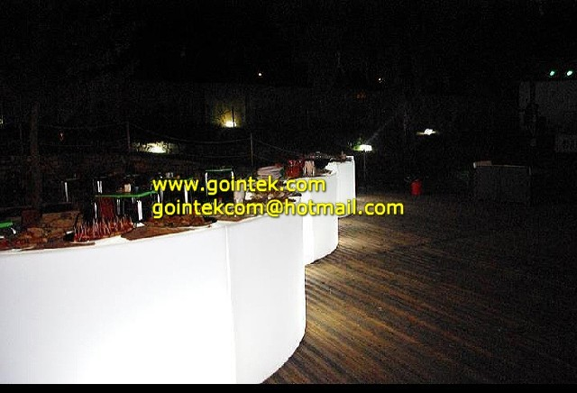 Illuminated Led Bar Counter For Bar With Remote Control modern-indoor-pub-and-bistro-tables