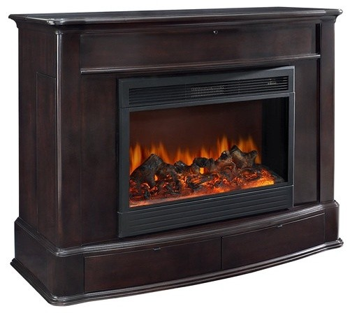 Soho 57 Tv Stand With Electric Fireplace Modern Media Storage By Wayfair