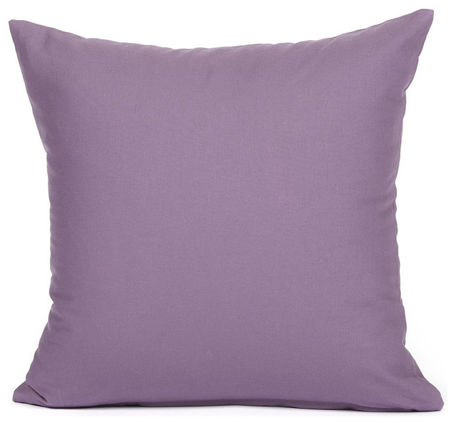 Solid Purple Decorative Pillows : Solid Purple Accent / Throw Pillow Cover - Modern - Pillows - by Silver Fern Decor