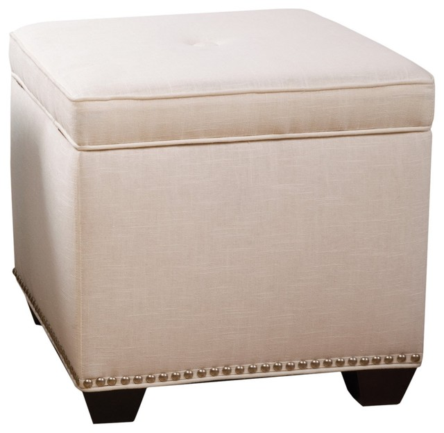 ... Storage Cube Ottoman By Sandy Wilson Cashmir Storage Cube Off White ...