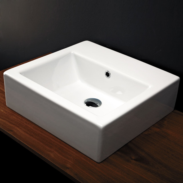 Wall Mounted Washbasin : Aquamedia Washbasin in Wall-mount & Vessel Washbasins modern-bathroom ...