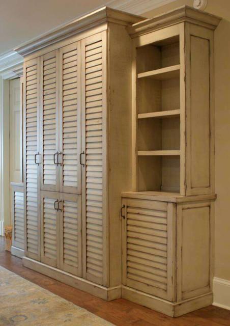 Shutter door cabinet - Mediterranean - jacksonville - by Paravan Wood Design