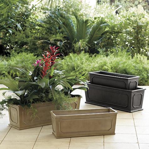 Chapelle Rectangular Planter Traditional Indoor Pots
