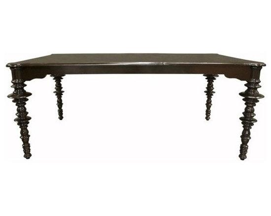 Noir Ferret Distressed Brown Dining Table - Noir Ferret Distressed Brown Dining Table.