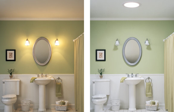 VELUX SUN TUNNEL skylight contemporary bathroom