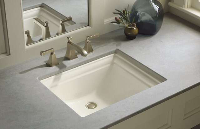 "Kohler K-2339-0 White Memoirs Memoirs 18-1/4"" Undermount Bathroom Sink - Contemporary - Bathroom ..."