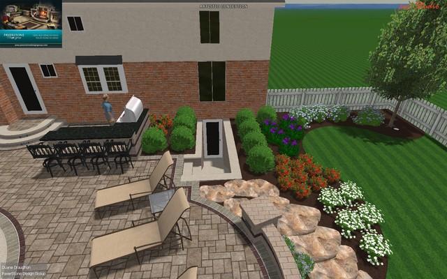 Gunite Pool Design w/Outdoor Living Space