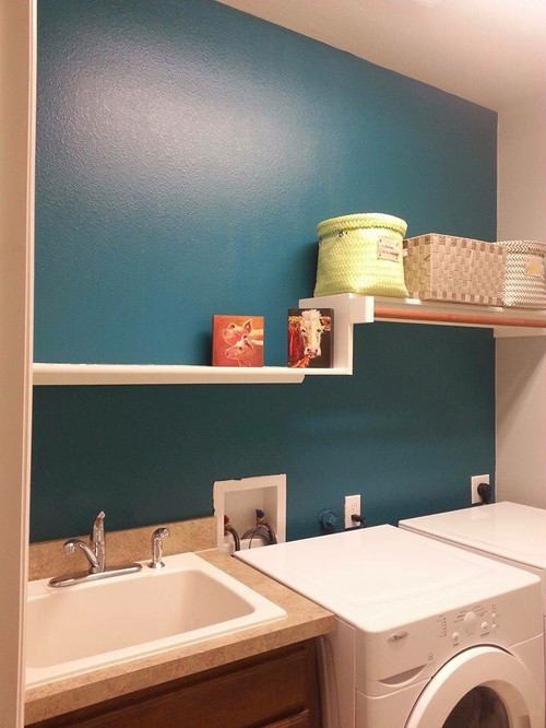 need help decorating my teal laundry room