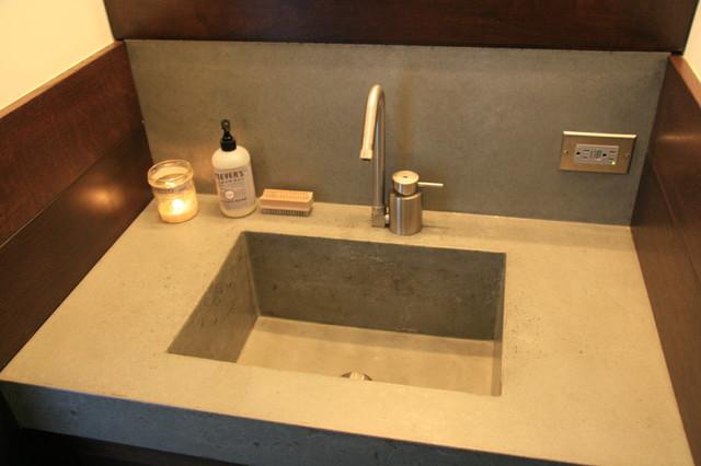 Concrete bathroom sink - Contemporary - Bathroom Sinks - new york - by ...