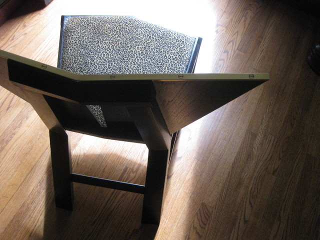 WEDGE DINING CHAIR w BRASS TRIM by Richard Makes Furniture contemporary-furniture