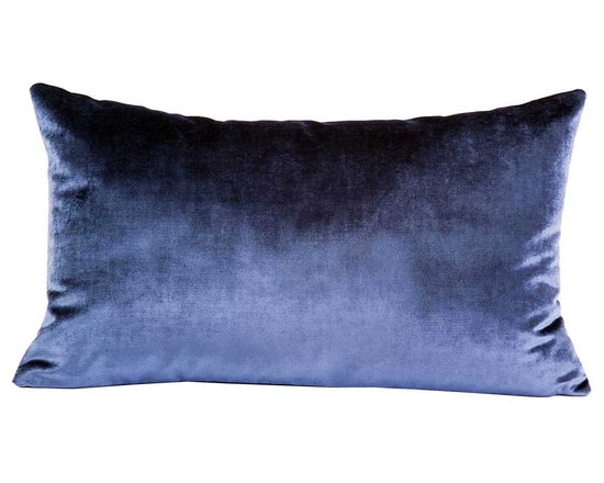 Yves Delorme - Iosis Berlingot Decorative Pillow, Gris, 18x18 - These sumptuous velvet pillows by Yves Delorme add gorgeous color and texture to any space. Decorative pillows feature a velvet front with a linen back and are filled with a feather down insert. Available in several colors and three different sizes. Made in France.Usually ships in 5-7 business days.