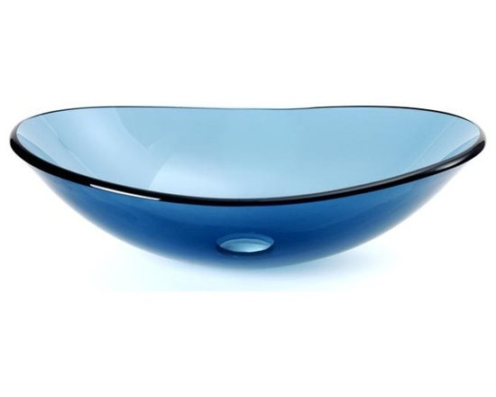 "DreamLine DLBG-01-BU Ellipse Vessel Sink Blue - APPLY COUPON CODE ""EDHOUZ20"" AT CHECKOUT. JUST OUR WAY OF SAYING THANKS."