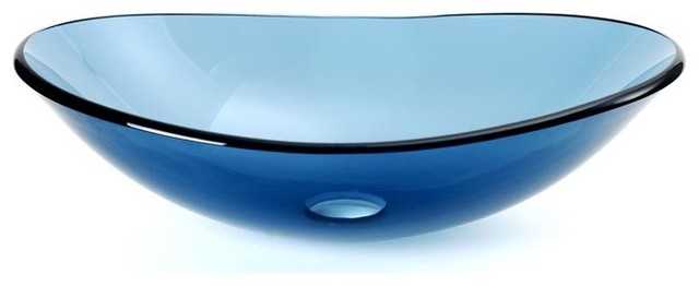 DreamLine DLBG-01-BU Ellipse Vessel Sink Blue modern-bathroom-sinks
