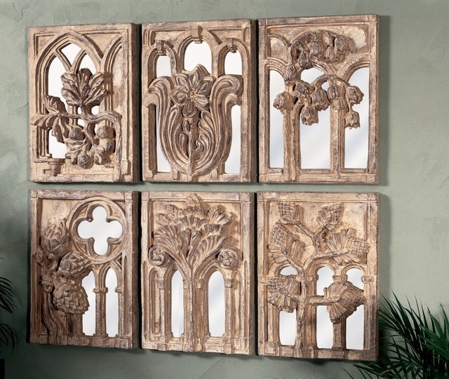 Traditional Set of 6 Windows to the Garden Wall Art Pieces traditional-artwork