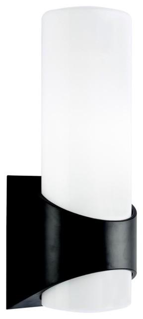 "Contemporary Kichler Black Finish 18 1/2"" High Outdoor Wall Light contemporary-outdoor-lighting"