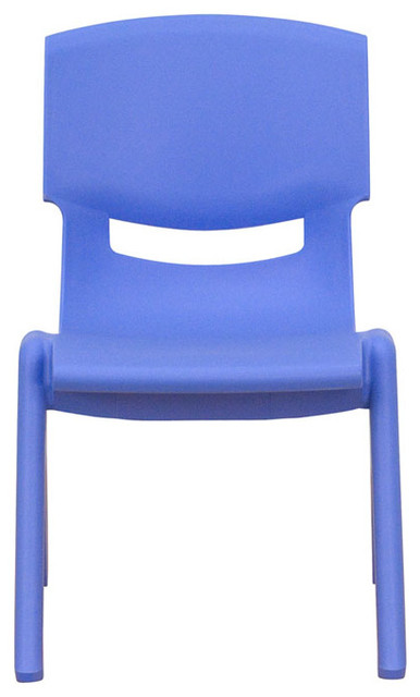 blue plastic stackable school chair with 10 5 seat height