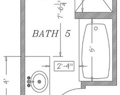 Can i comfortably fit a shower tub for 7x9 bathroom design
