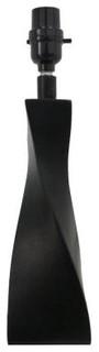 Hampton Bay Black Accent Lamp: Mix & Match 14 in. Black Twist Base Lamp 15421 - Contemporary ...