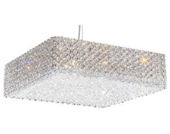 Schonbek Lighting RE1705A Refrax Silver Pendant contemporary-pendant-lighting