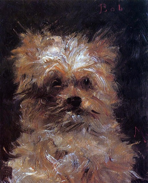"Edouard Manet Head of a Dog, 'Bob' - 16"" x 20"" Premium Archival Print traditional-artwork"