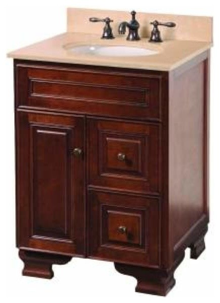 Foremost Hartford 24 Inch Vanity Combo In Walnut Finish Bathroom Vanities And Sink Consoles