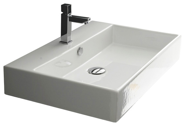 28 Ada Compliant Ceramic Wall Mounted Vessel Bathroom Sink Contemporary Bathroom Sinks