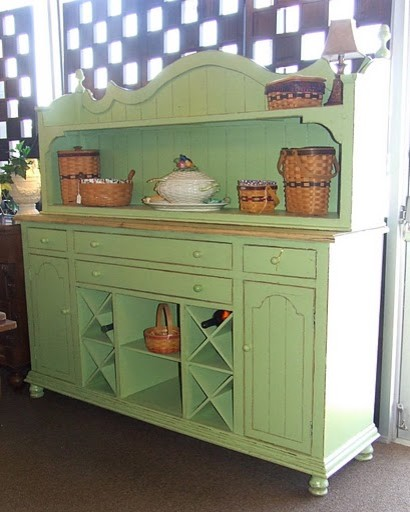 French Country Green Sideboard Buffet - Buffets And Sideboards ...